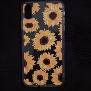 Sunflower IPhone XS Max Case never used!